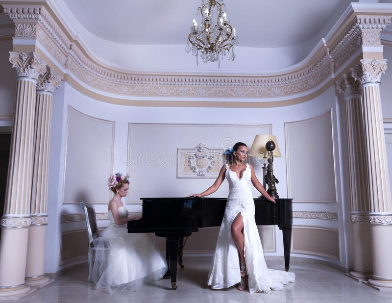 Download Romantic Duet stock image. Image of indoors, dress, face - 41488397