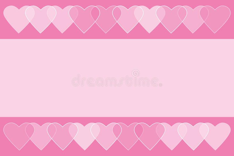Romantic elegant Valentines background with hearts royalty free illustration