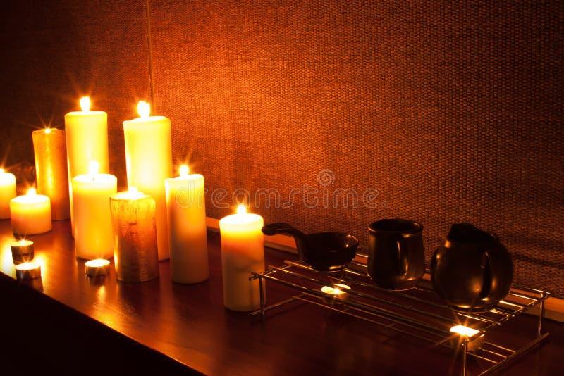 Romantic spa royalty free stock photos