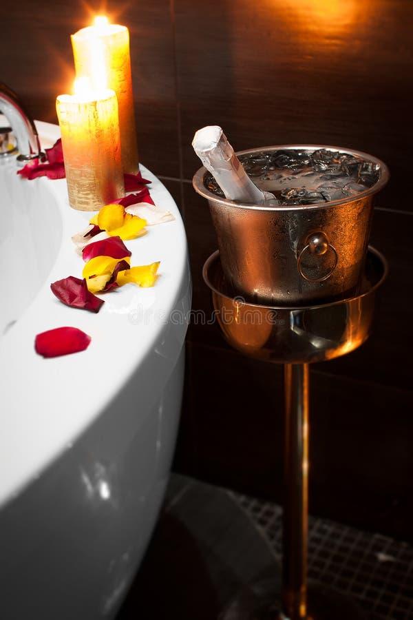 Romantic spa royalty free stock photography