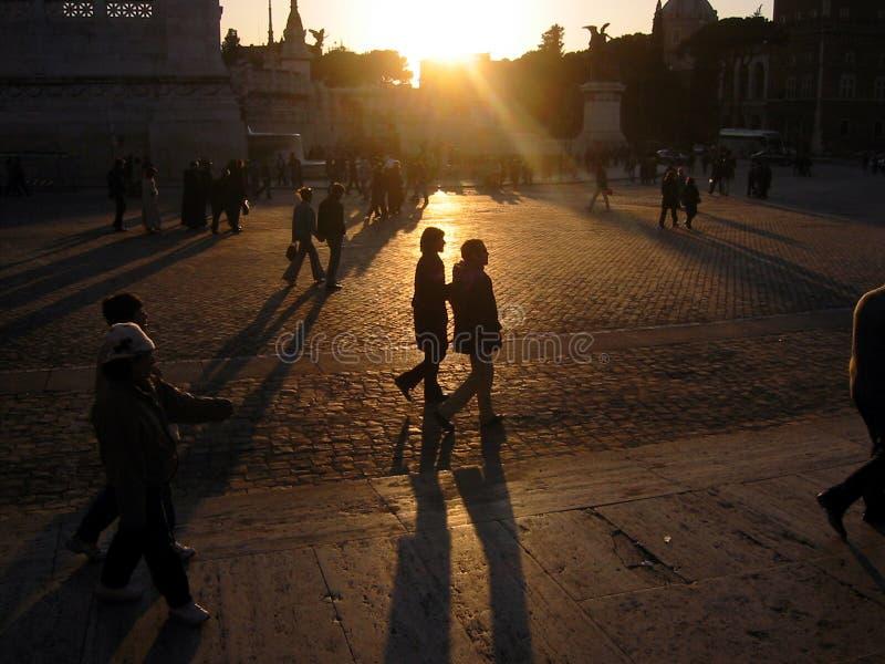Download Romantic Evening In Piazza Venezia, Rome Stock Images - Image: 1737474