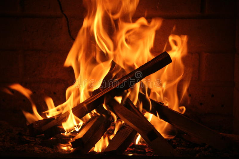Romantic fire stock image