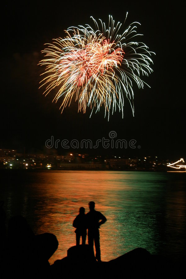 Romantic Firework royalty free stock images