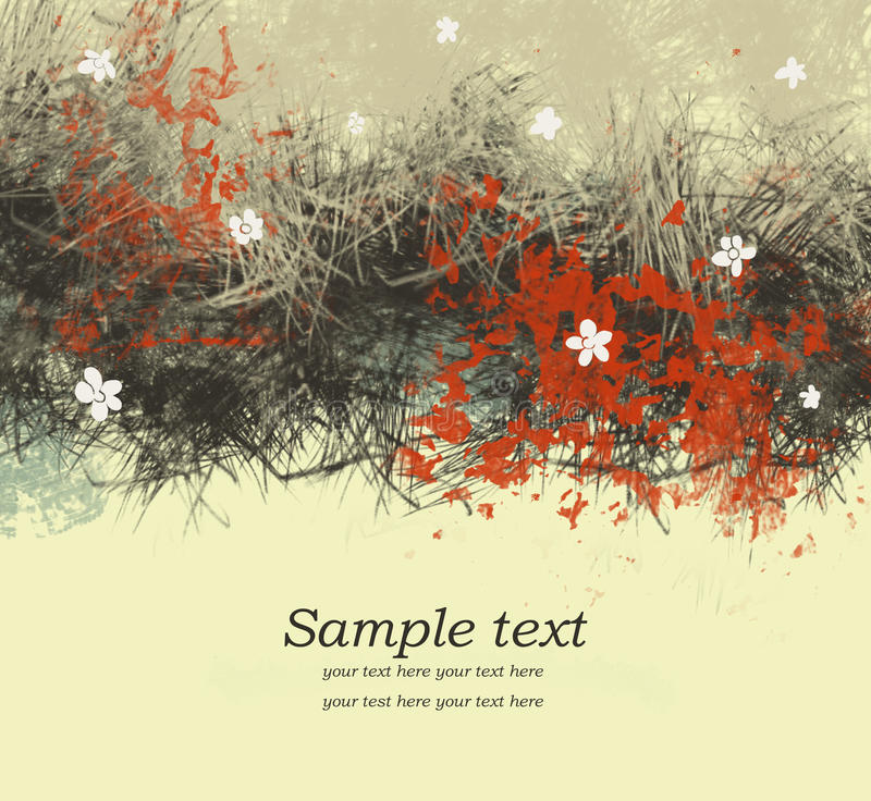 Download Romantic floral background stock illustration. Image of cover - 18543613