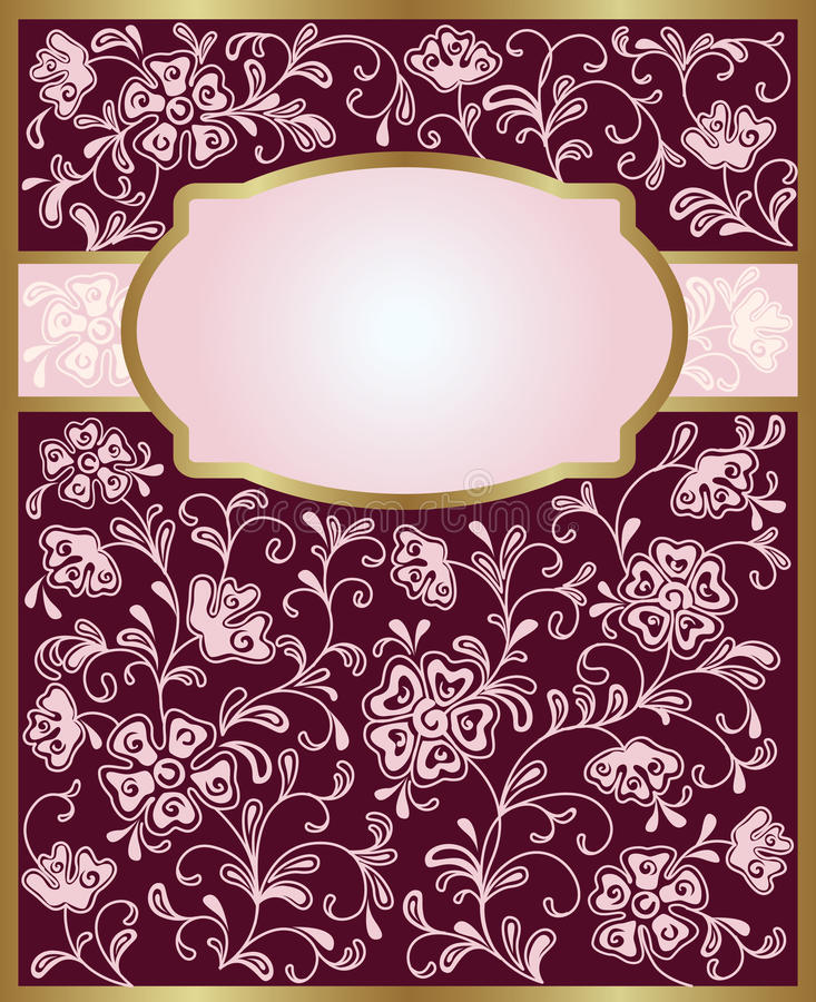 Download Romantic floral background stock vector. Illustration of cards - 19939036