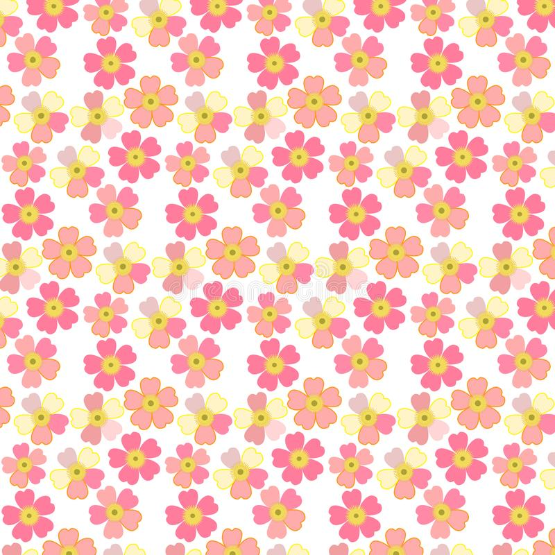 Romantic floral background. Flower. Japanese daisies stock illustration