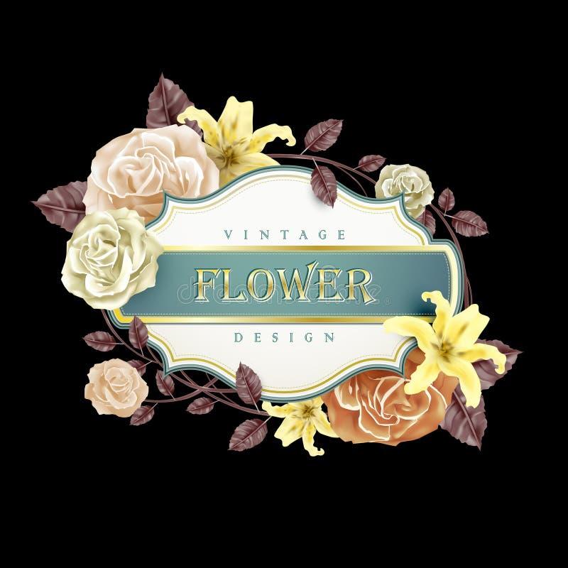 Romantic floral frame design vector illustration
