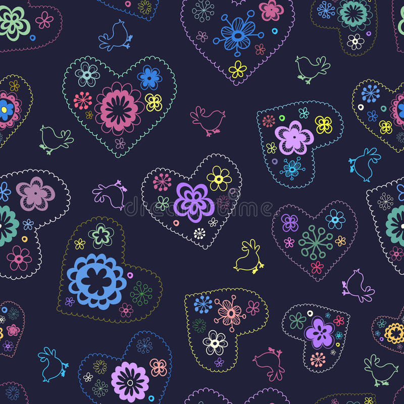 Romantic  Floral Seamless Pattern Stock Image