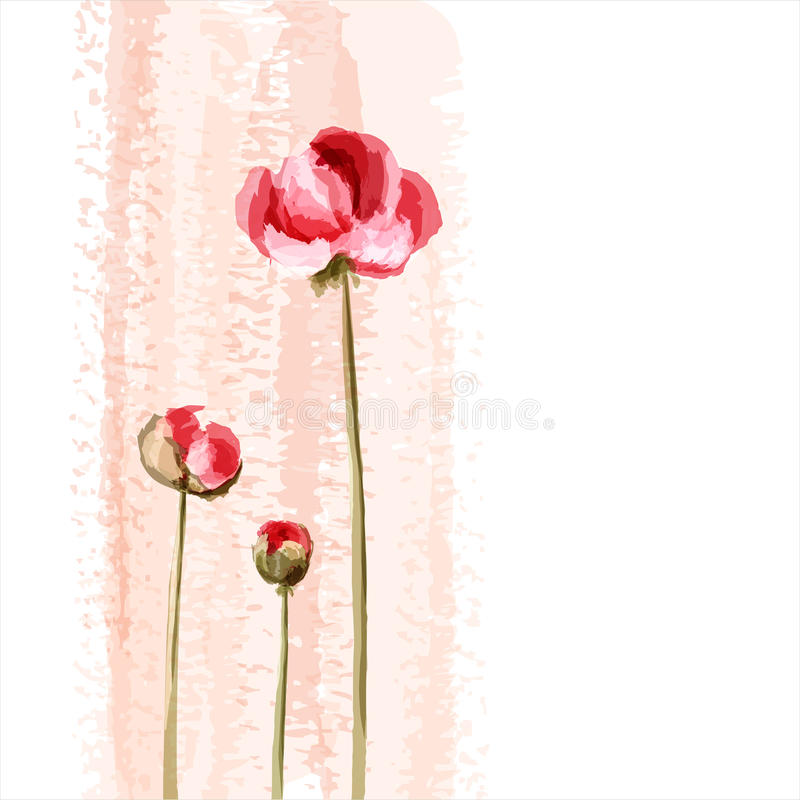 Romantic flower background stock illustration