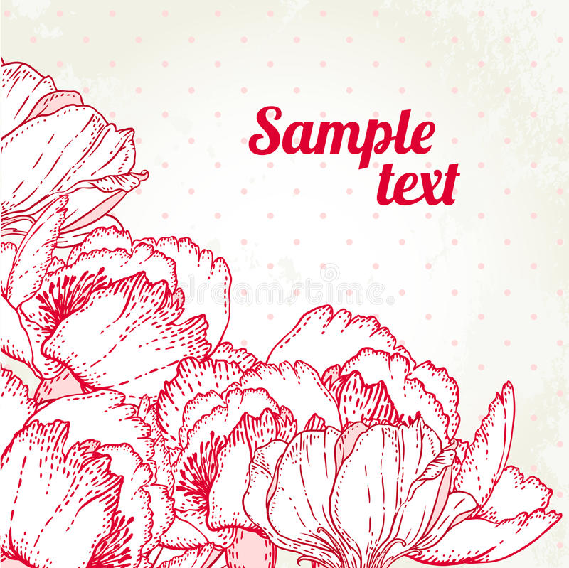 Romantic Flower Background royalty free illustration