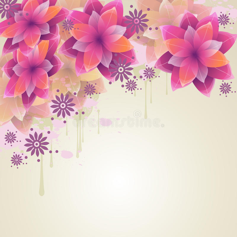 Romantic Flower Background Stock Images