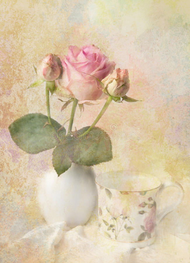 Romantic flower card. royalty free stock image