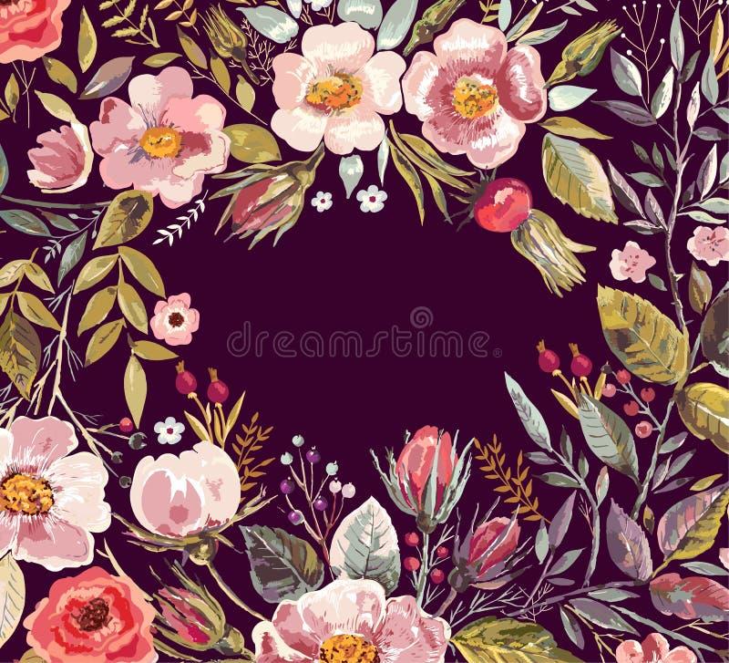 Romantic flowers stock illustration