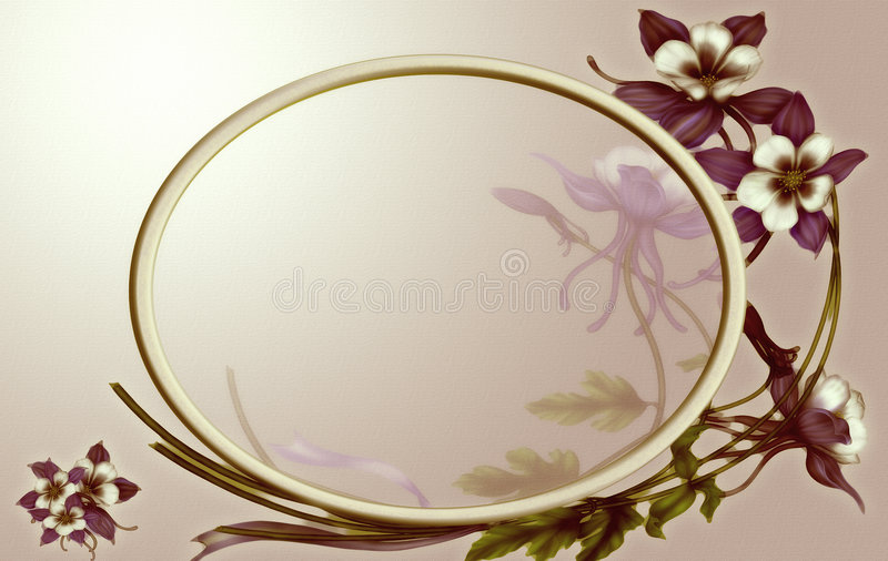Romantic frame stock photo