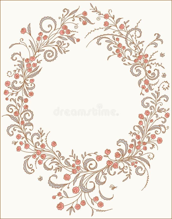 Romantic frame. royalty free illustration