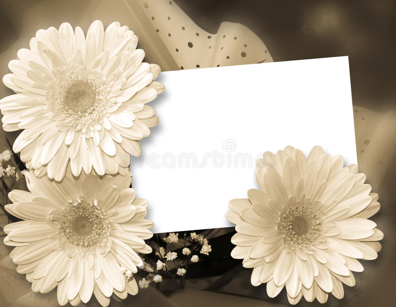 Romantic framework for congratulations stock illustration