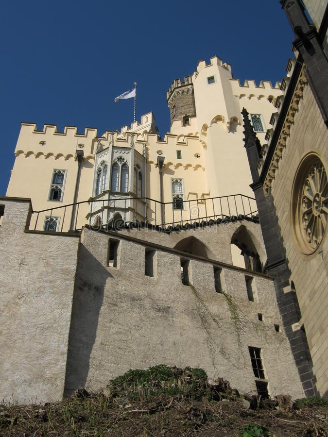 Coblenz ,Romantic German castle Stolzenfels, Rhine royalty free stock images
