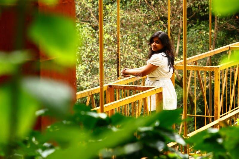 Romantic Getaway - Attractive Woman on Bridge