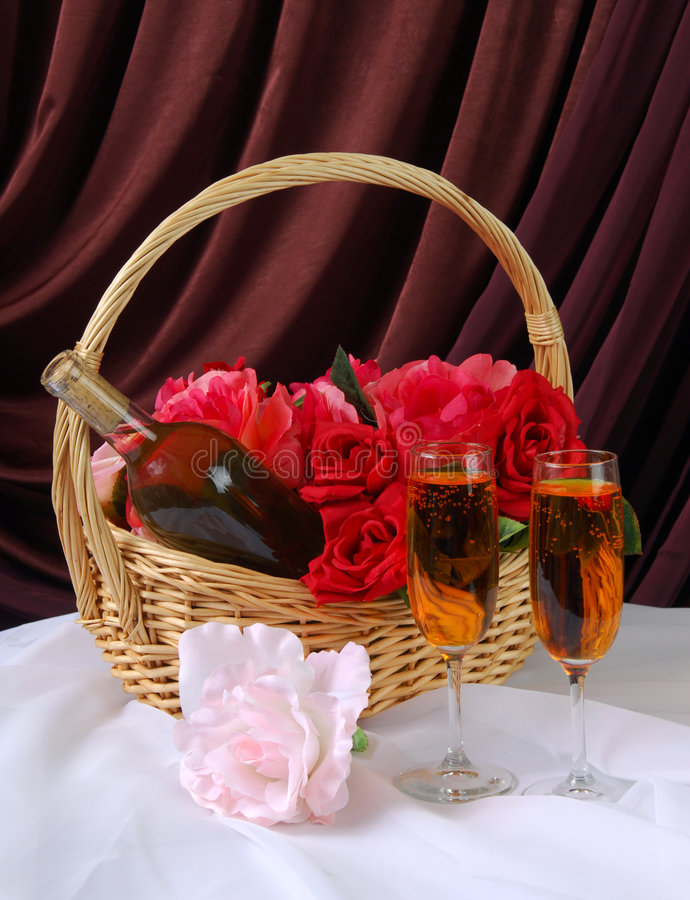 Romantic Gift Basket stock image
