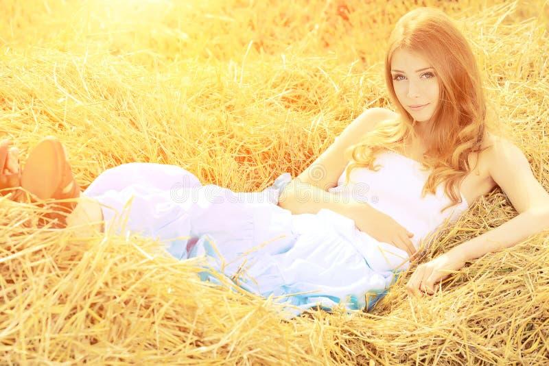 Download Romantic girl stock image. Image of caucasian, golden - 21122401