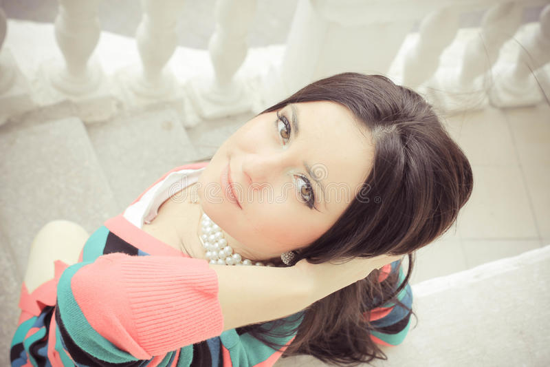 Download Romantic girl stock photo. Image of colorful, lovely - 27430426