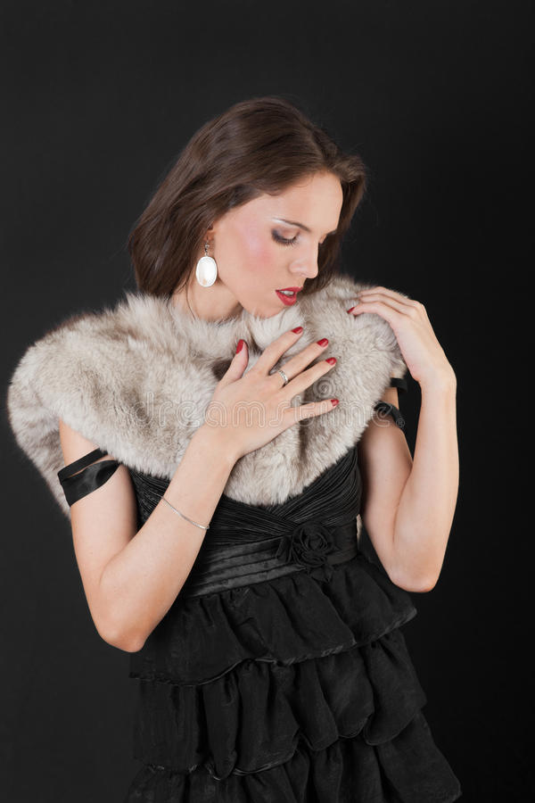 Download Romantic girl stock image. Image of face, color, fashion - 28025287
