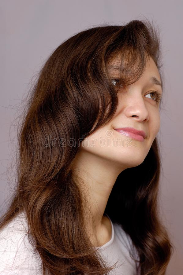 Romantic girl face royalty free stock photography