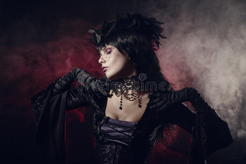 Download Romantic Gothic Girl In Victorian Style Clothes Stock Photo - Image of attractive, brunet: 35102906