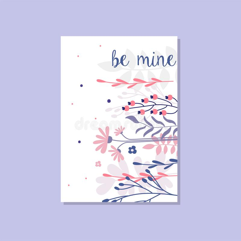 Romantic greeting card with the inscription be mine trendy postcard download romantic greeting card with the inscription be mine trendy postcard for valentines day stopboris Image collections