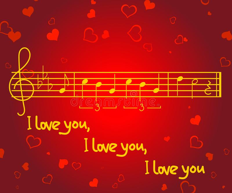Romantic greeting card for valentines day with heart shapes and download romantic greeting card for valentines day with heart shapes and music notes of m4hsunfo Images