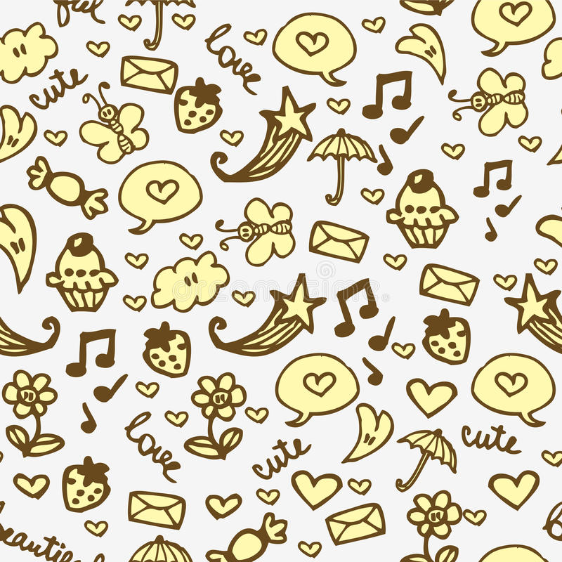 Download Romantic Hand Drawn Seamless Pattern Stock Photos - Image: 27665573