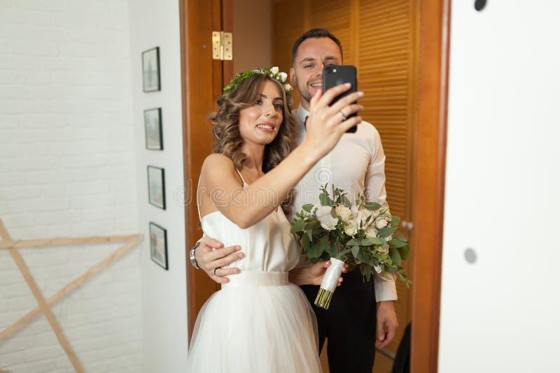 Romantic and happy caucasian couple stock photos