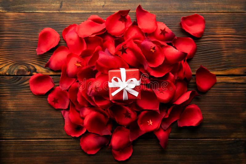 Beautiful bright red rose petals, romantic gesture, background. Happy valentines day oliday sales concept royalty free stock images