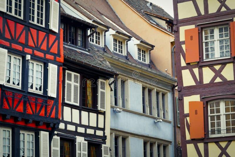 Romantic historic buildings in Colmar stock photo