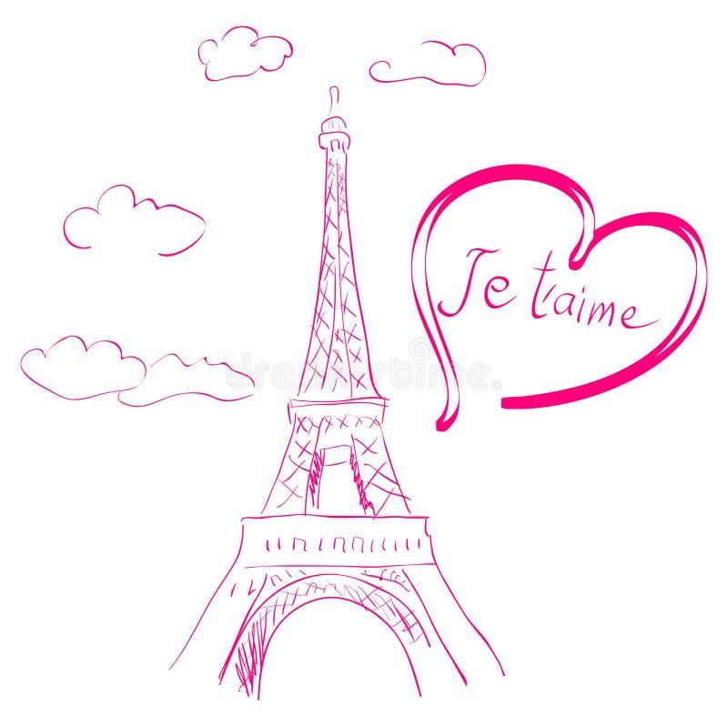 Download Romantic illustration stock vector. Illustration of monument - 12489470