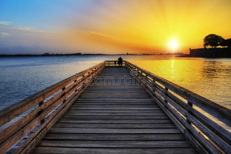 Download Romantic Jetty San Juan Stock Photo - Image: 71627784