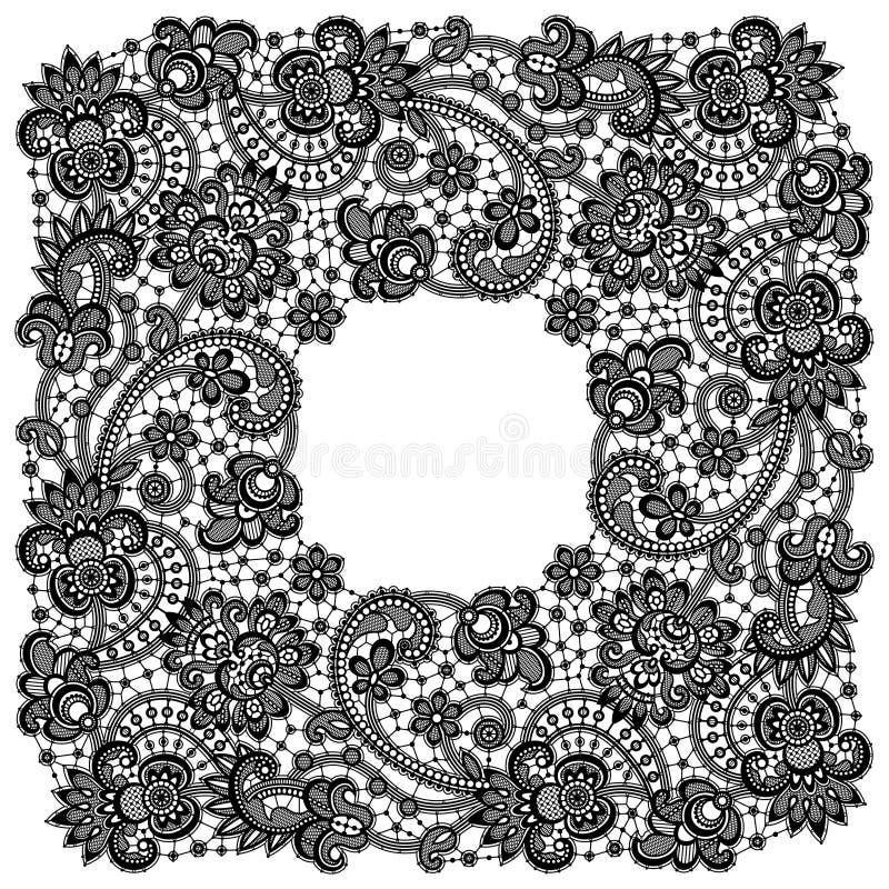 Romantic Lace Frame royalty free illustration