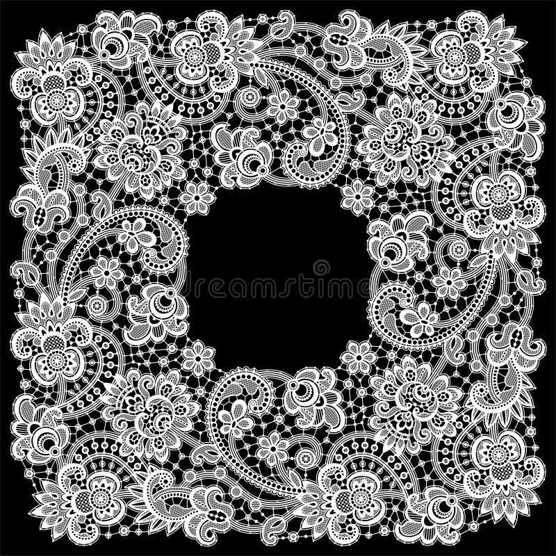 Romantic Lace Frame vector illustration