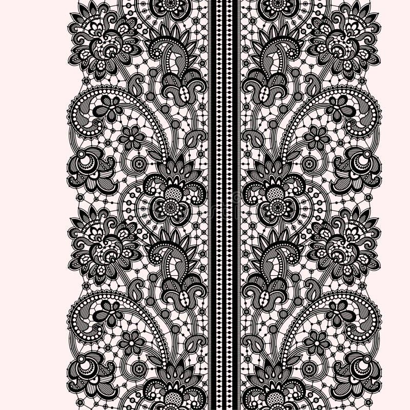 Romantic Lace Seamless Pattern vector illustration