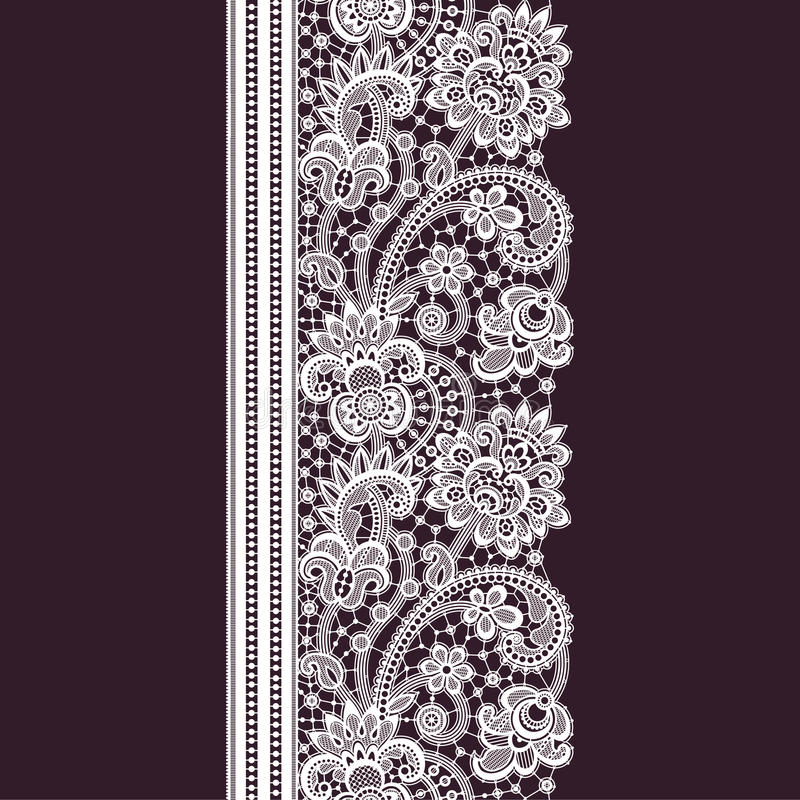 Romantic Lace Seamless Pattern stock illustration