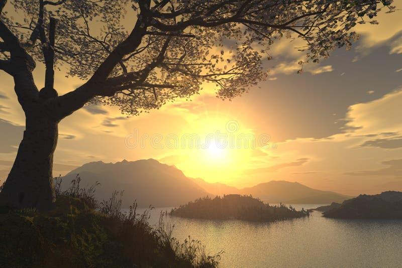 Romantic landscape stock photo