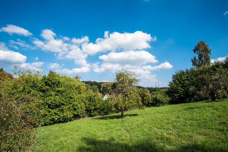 Romantic landscape Koenigsbronn. In Germany in summer royalty free stock images