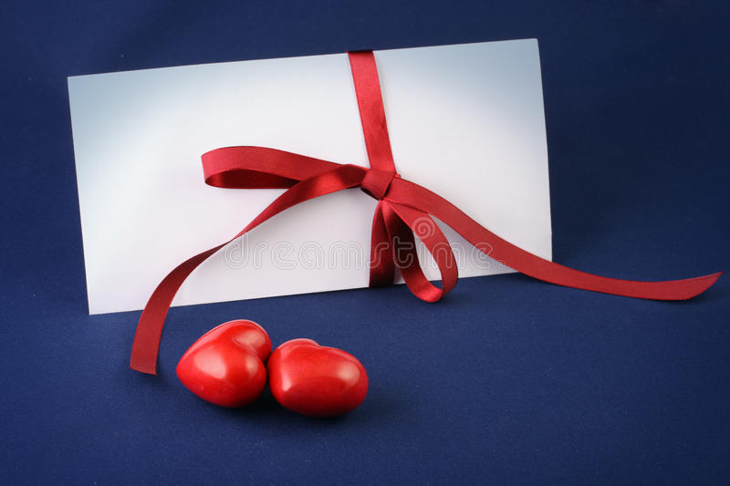 Romantic letter royalty free stock image