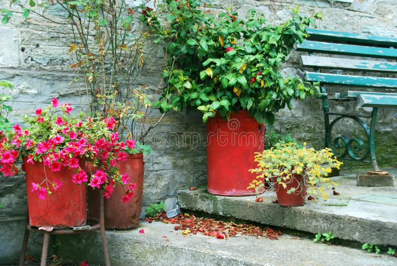 Romantic little terrace royalty free stock photography