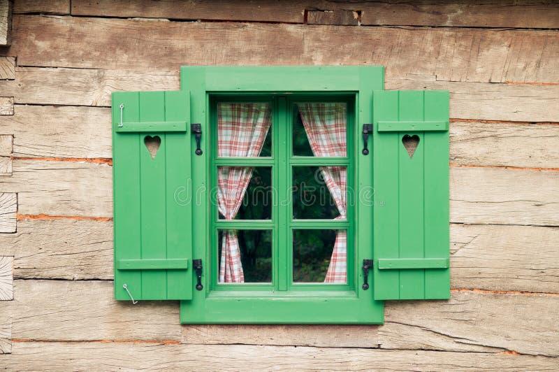 Romantic log cabin stock photos