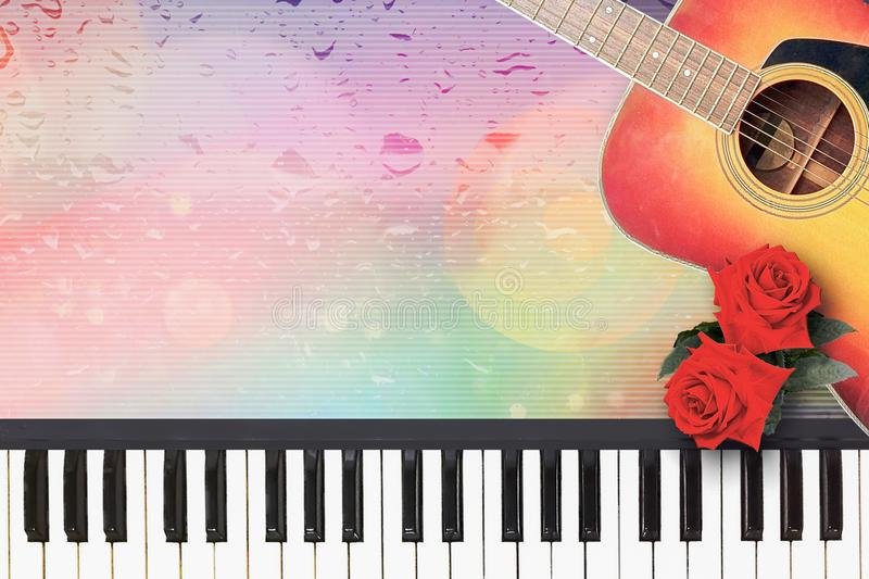 Romantic love song for loneliness and romance. Romantic love song for loneliness and romance in the mood of twilight rainy day stock illustration