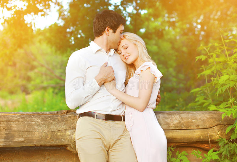 Romantic lovely young couple in love royalty free stock photography