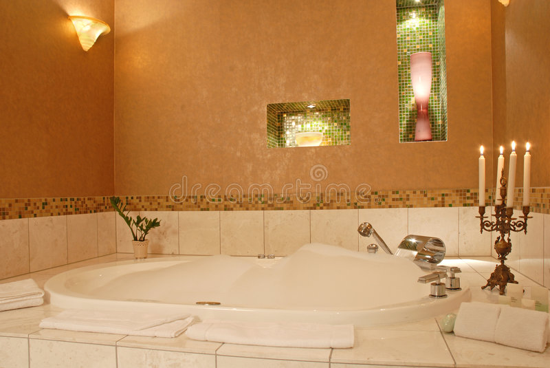 Download Romantic Luxury Hotel Bathroom Stock Image