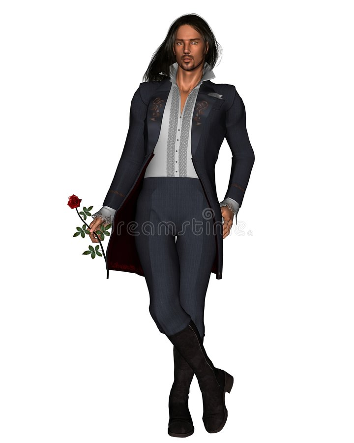 Free Romantic Man With Rose - 1 Royalty Free Stock Photos - 8127408