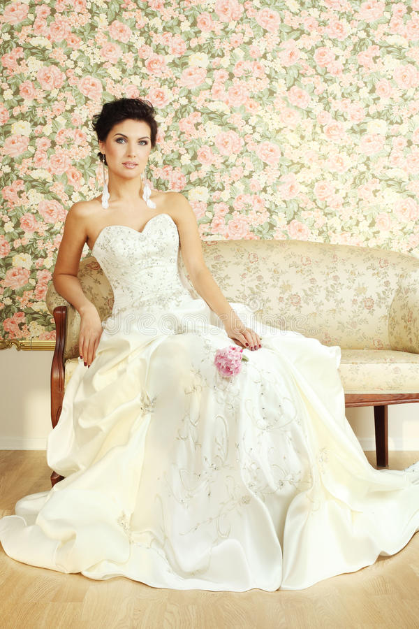 Download Romantic mature bride stock photo. Image of makeup, gown - 26838608